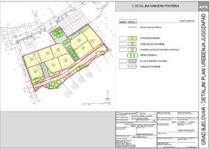 Detaljni plan uređenja Jugozapad - Detaljna namjena površina