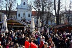 Točno u podne dočekana je Dječja Nova 2018. godina, 31. prosinca 2017., gradski paviljon u Bjelovaru FOTO: Grad Bjelovar www.bjelovar.hr