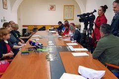 Na konferenciji za novinare najavljen 13. DOKUart, 1. listopada 2018., mala vijećnica Grada Bjelovara FOTO: Grad Bjelovar https://www.bjelovar.hr/