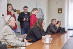 Na konferenciji za novinare predstavljen je projekt rekonstrukcije križanja nerazvrstane ceste i državne ceste 28 u Patkovcu te gradnja pješačkih staza, 9. ožujka 2018., mala vijećnica Grada Bjelovara FOTO: Grad Bjelovar https://www.bjelovar.hr