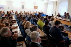 Čelnici Grada Bjelovara održali radni sastanak s bjelovarskim poduzetnicima i obrtnicima, 13. studenog 2018., velika vijećnica Grada Bjelovara FOTO: Grad Bjelovar https://www.bjelovar.hr/