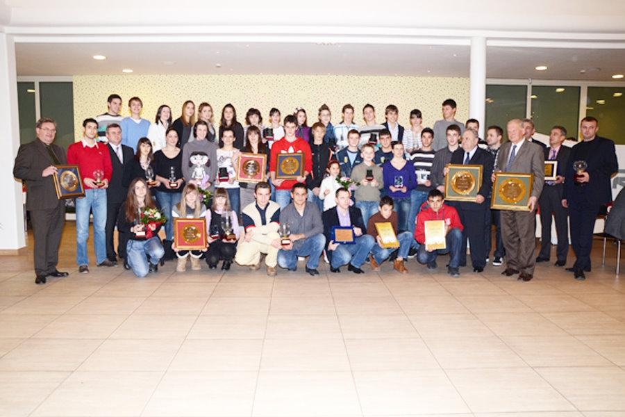 Proglašenje najboljih športaša i športskih ekipa Grada Bjelovara u 2010. godini