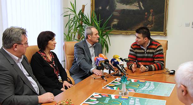 Najavljen 10. međunarodni udaraljkaški tjedan - IPEW 2013. u Bjelovaru, 9. siječnja 2013., ured gradonačelnika Grada Bjelovara FOTO: Branka Sobodić