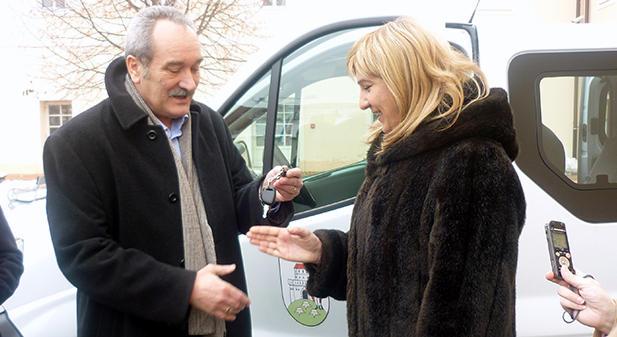 Antun Korušec, gradonačelnik Grada Bjelovara i Davorka Bačeko