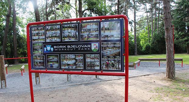 Otvorena fitness staza (workout park) na bjelovarskom Boriku, 10. lipnja 2013. FOTO: Branka Sobodić