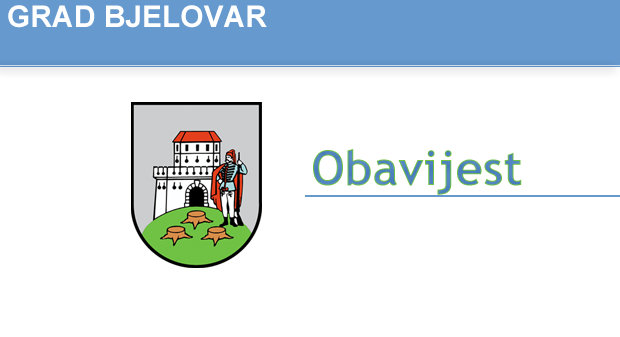 Grad Bjelovar - Obavijest