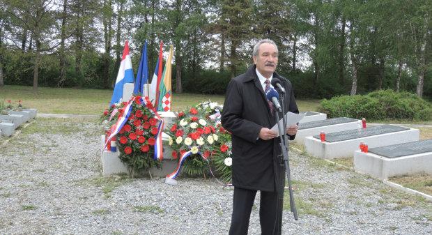 Odana počast žrtvama ustaškog režima u Gudovcu, 28. travnja 2016., spomen područje u Gudovcu FOTO: Dubravka Dragičević www.bjelovar.hr