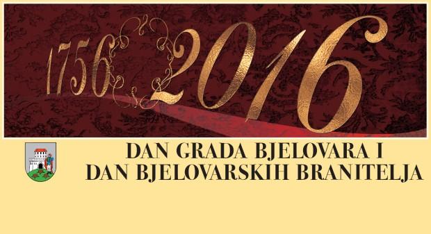 Program obilježavanja Dana Grada Bjelovara i Dana bjelovarskih branitelja 2016.