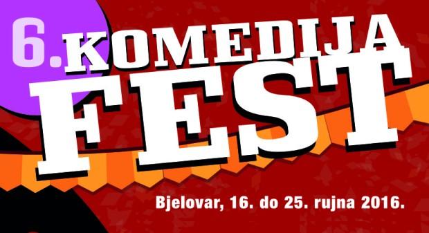 6. komedija fest u Bjelovaru, 16. - 25. rujna 2016. godine