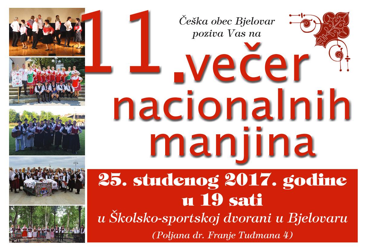 Najava Večeri nacionalnih manjina 2017.