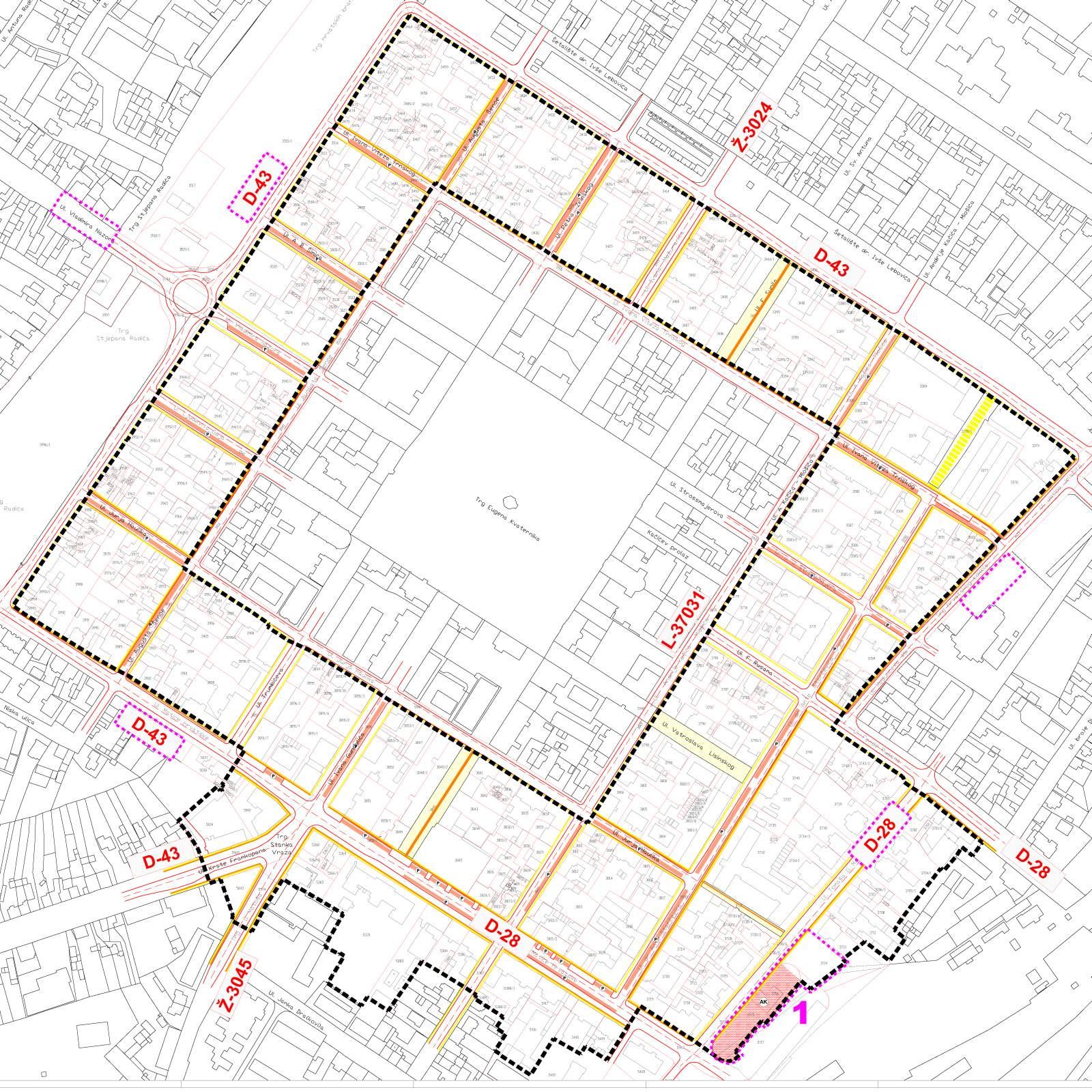 Urbanistički plan uređenja uže povijesne jezgre Bjelovara - Zona B