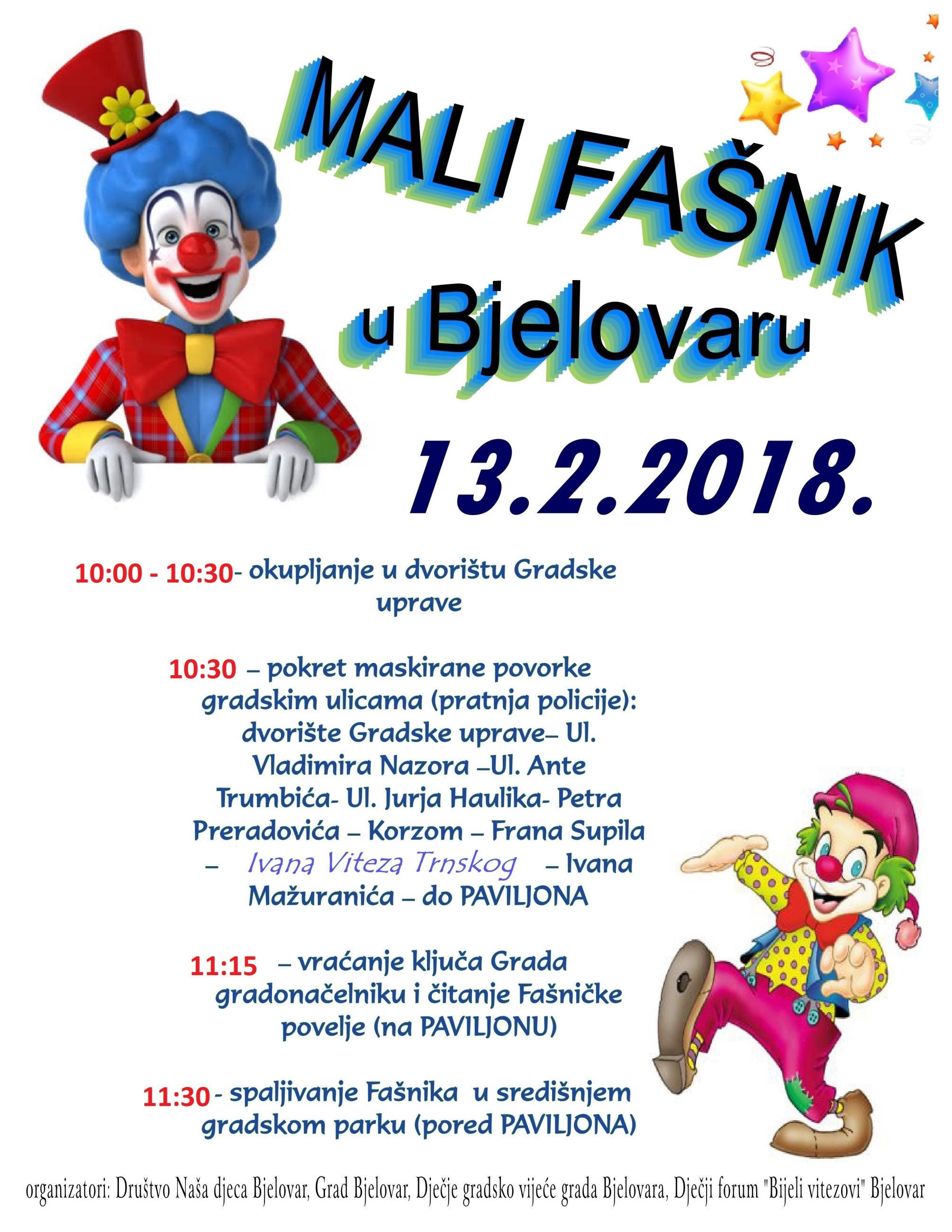 Mali Fašnik u Bjelovaru, 13.2.2018.