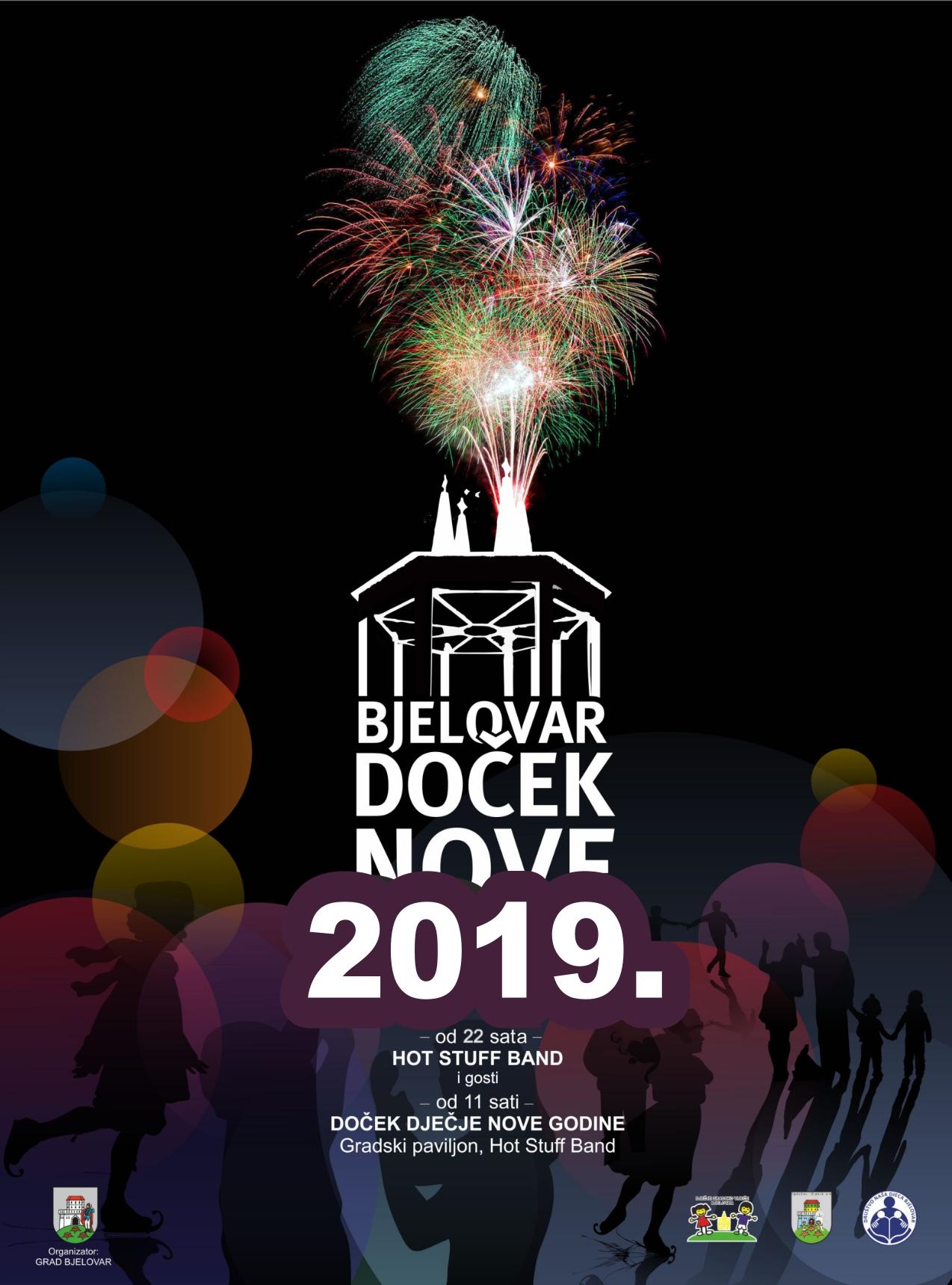 Doček Nove 2019. godine u Bjelovaru / Dječji doček Nove 2019. godine u Bjelovaru